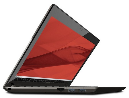 Toshiba Satellite U845W Ultrabook with a 21-9 Ultrawide Cinematic Display angle