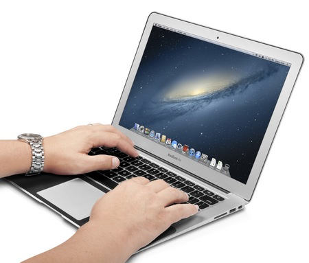 Twelve South SurfacePad for Air Leather Cover MacBook Air typing