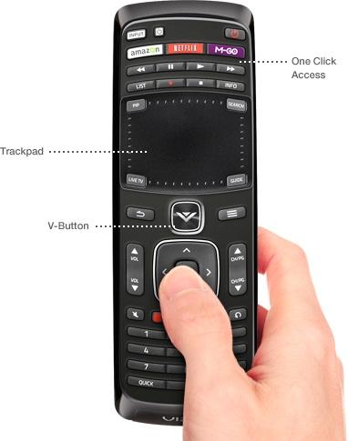VIZIO Co-Star Google TV Stream Player remote trackpad