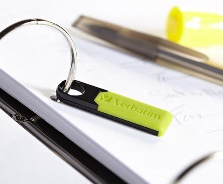 Verbatim Store n Go Micro USB Drive Plus Rugged Flash Drive green binder
