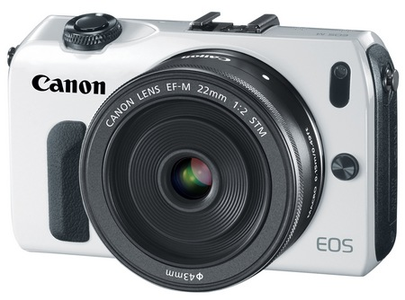 Canon EOS M Mirrorless Interchangeable Lens Camera white