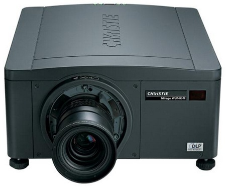 Christie Mirage DS+14K-M, HD14K-M and WU14K-M DLP Projectors front