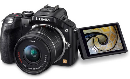 Panasonic LUMIX DMC-G5 Micro43 Mirrorless Camera swivel lcd