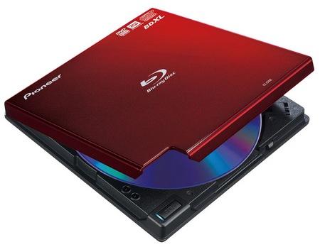 Pioneer BDR-XD04 Portable BDXL Burner red