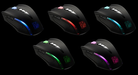 Thermaltake Tt eSports Black Element Cyclone Edition Gaming Mouse with Fan colors