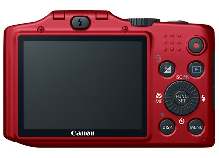 Canon PowerShot SX160 IS 16x long zoom camera red back