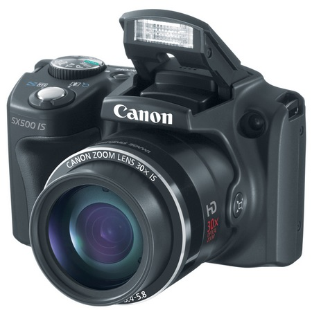 Canon PowerShot SX500 IS 30x long zoom camera flash