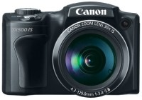 Canon PowerShot SX500 IS 30x long zoom camera front