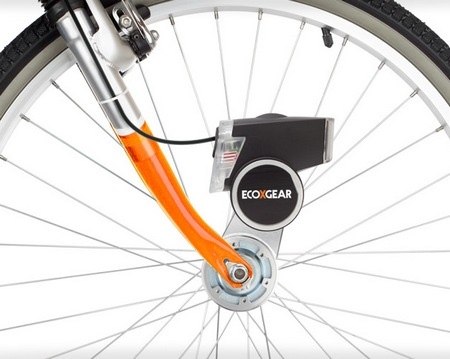 ECOXGEAR ECOXPOWER Pedal-powered Headlight and Mobile Device Charger attched
