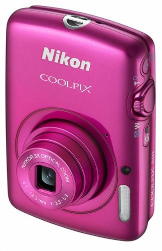Nikon CoolPix S01 Ultra-compact Digital Camera pink