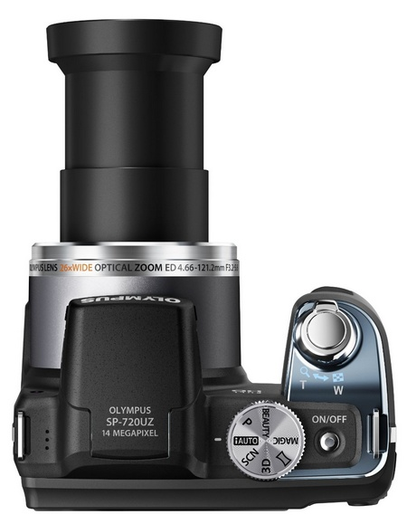 Olympus STYLUS SP-720UZ 26x Long Zoom Camera top