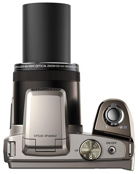 Olympus STYLUS SP-820UZ iHS gets 40x Ultra Zoom top
