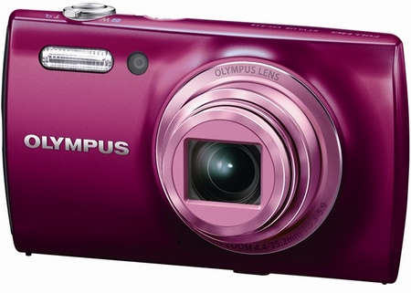 Olympus STYLUS VH-515 compact digital camera purple