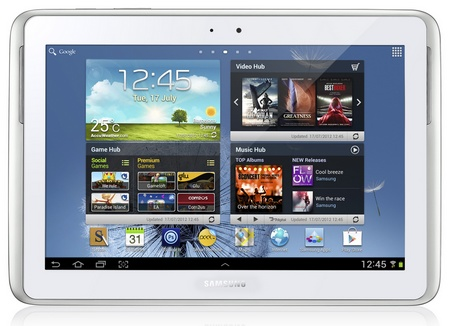 Samsung Galaxy Note 10.1 Tablet white