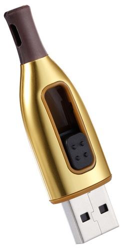 ADATA DashDrive Choice UC500 Bottle Style USB Flash Drive gold