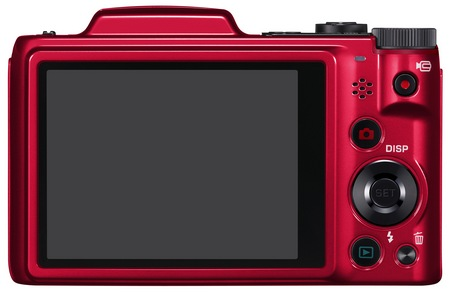 Casio EXILIM EX-H50 24x Zoom Camera red back