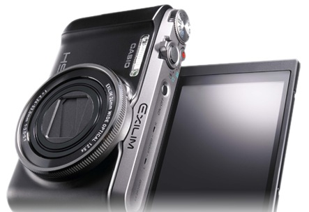 Casio EXILIM EX-ZR1000 High-speed Digital Camera flipping display