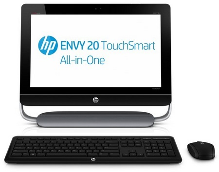HP ENVY 20 TouchSmart touchscreen all-in-one pc front