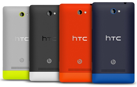 HTC 8S Mid-range Windows Phone 8 Smartphone colors back