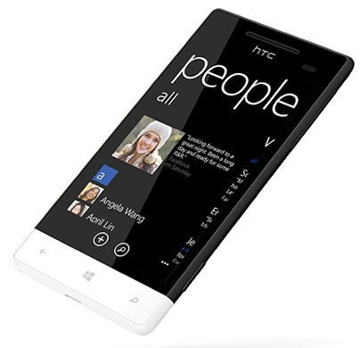 HTC 8S Mid-range Windows Phone 8 Smartphone domino angle