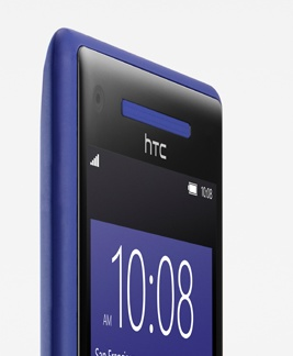 HTC 8X Windows Phone 8 Smartphone blue receiver