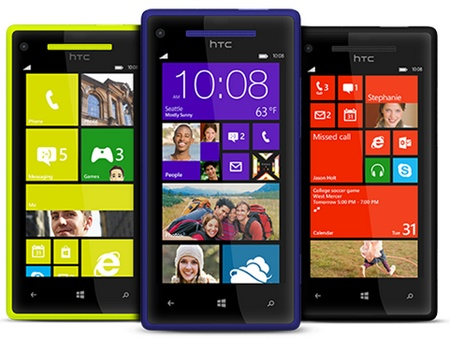 HTC 8X Windows Phone 8 Smartphone colors