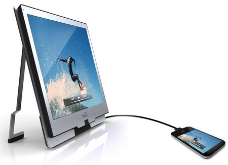 MMT Monitor2Go and Monitor2Go HD+ Mobile Secondary Displays with iphone