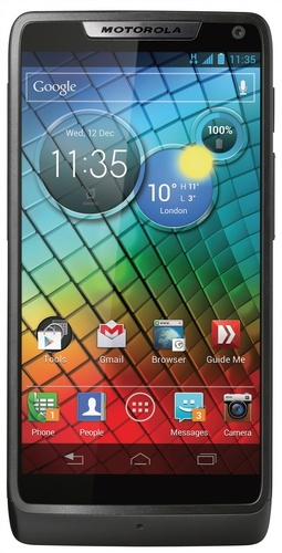 Motorola RAZR i gets 2GHz Intel Atom CPU black