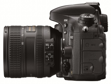 Nikon D600 Full-Frame DSLR Camera side
