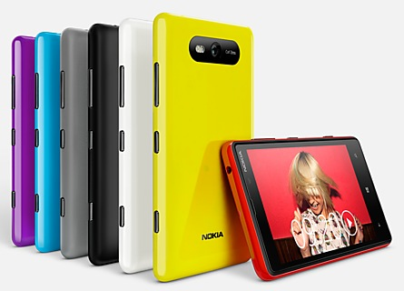Nokia Lumia 820 Windows Phone 8 Smartphone colors 1