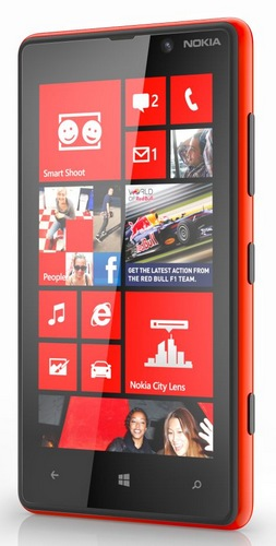Nokia Lumia 820 Windows Phone 8 Smartphone red
