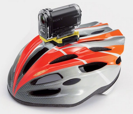 Sony Action Cam HDR-AS10 and HDR-AS15 HD Sports Cameras helmet