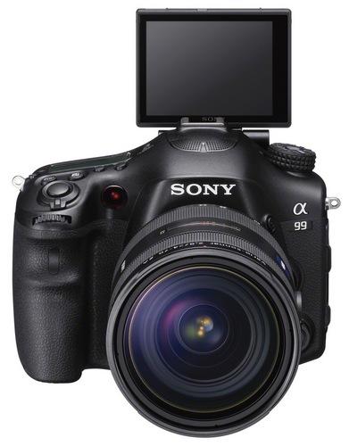 Sony Alpha A99 Full-frame DSLR Camera tilting lcd