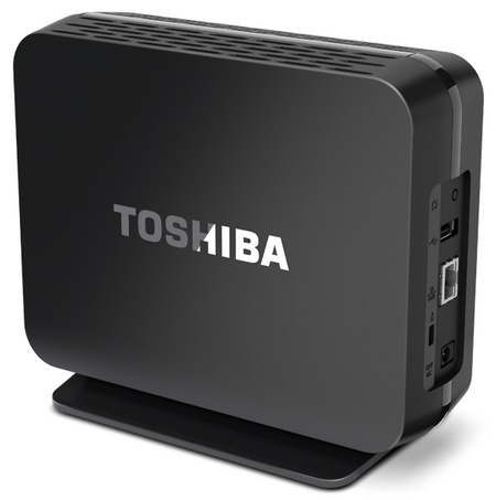 Toshiba Canvio Personal Cloud Network Attached Storage angle