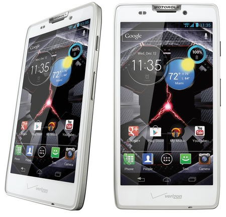 Verizon Motorola DROID RAZR HD LTE Smartphone white