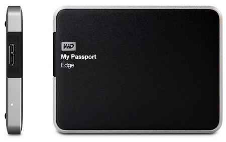 Western Digital My Passport Edge for Mac Slim USB 3.0 Portable Hard Drive side