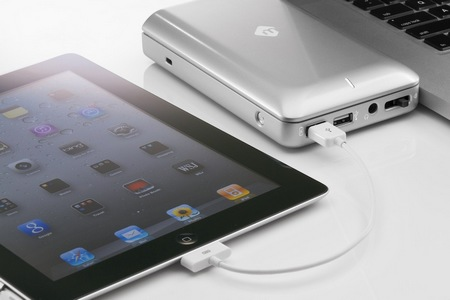 mLogic mDock Docking Station and Backup Drive for MacBook Pro in use ipad