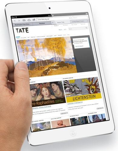 Apple iPad mini 7.9-inch Touchscreen, dual-core A5 lte 1080p video hand 1