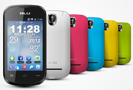 Blu Products Dash 3.5 Entry-level Dual-SIM Android Smartphone colors