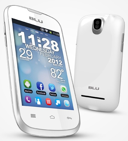 Blu Products Dash 3.5 Entry-level Dual-SIM Android Smartphone white