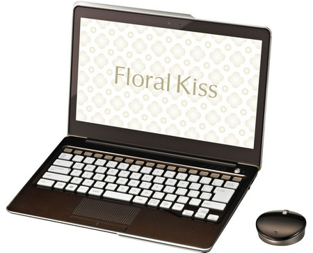 Fujitsu Lifebook Floral Kiss CH55 J Notebook for Female Users luxury brown