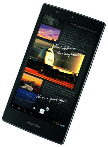 KDDI au Sharp AQUOS Pad SHT21 7-inch Tablet with IGZO Touchscreen Display