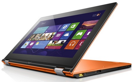Lenovo IdeaPad Yoga 11 Convertible Hybrid Notebook Tablet Windows 8 stand