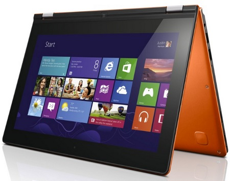 Lenovo IdeaPad Yoga 11 Convertible Hybrid Notebook Tablet Windows 8 tent mode