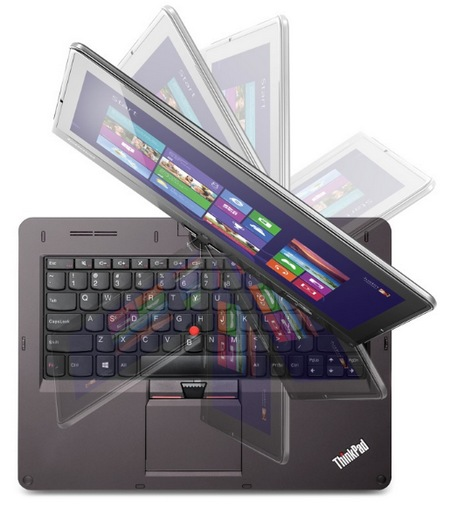 Lenovo ThinkPad Twist Windows 8 Convertible Ultrabook for Business twisting