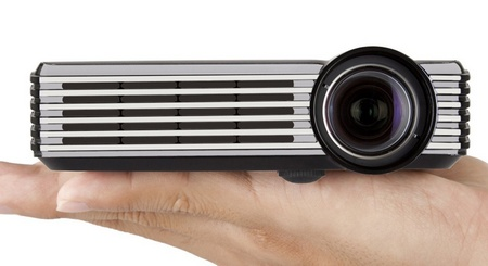 ViewSonic PLED-W200 Pico LED Projector on hand