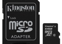 Kingston 64GB Class 10 microSDXC Memory Card adapter