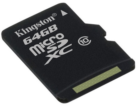 Kingston 64GB Class 10 microSDXC Memory Card
