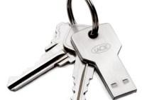 LaCie PetiteKey Key-shaped USB Flash Drive keychain
