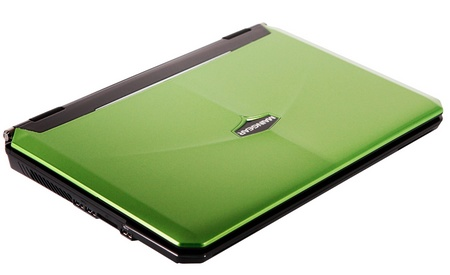 Maingear NOMAD 15 Gaming Notebook powered by Core i7 and GeForce GTX GPU green